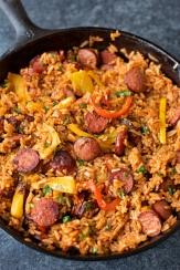Pepper-Sausage-Rice-Skillet-1